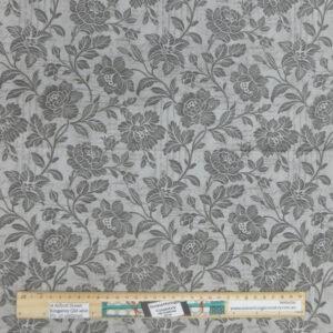 Quilting Patchwork Fabric Moda Grey Flowers Allover 50x55cm FQ