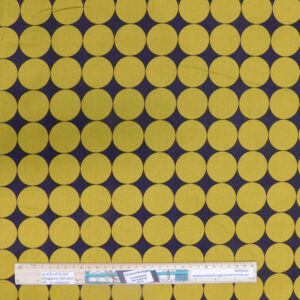 Quilting Patchwork Fabric Mustard Kharki Spots Allover 50x55cm FQ