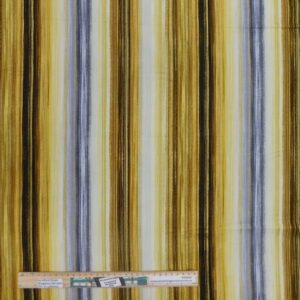 Quilting Patchwork Fabric Gold Grey Stripes Allover 50x55cm FQ