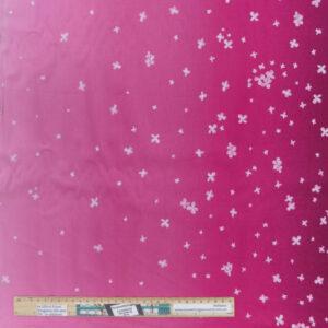 Quilting Patchwork Fabric Moda Ombre Bloom Fuschia Allover 50x55cm FQ