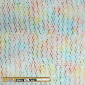 Quilting Patchwork Fabric Coloured Cream Spots Batik Allover 50x55cm FQ