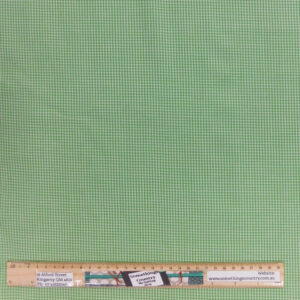 Quilting Patchwork Fabric Green Gingham Mini Check Allover 50x55cm FQ