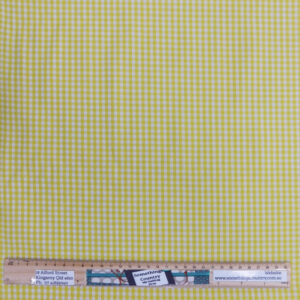 Quilting Patchwork Fabric Yellow Gingham Mini Check Allover 50x55cm FQ