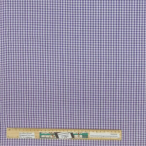 Quilting Patchwork Fabric Purple Gingham Mini Check Allover 50x55cm FQ