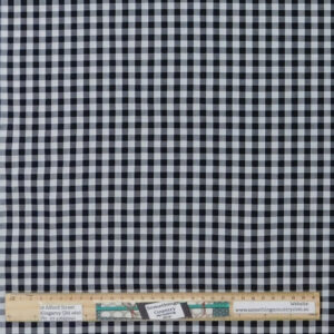 Quilting Patchwork Fabric Black Gingham Check Allover 50x55cm FQ