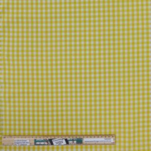 Quilting Patchwork Fabric Yellow Gingham Check Allover 50x55cm FQ