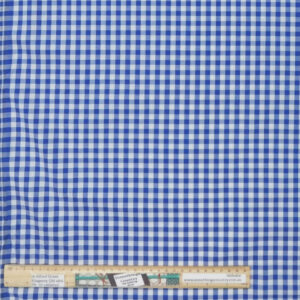 Quilting Patchwork Fabric Blue Gingham Check Allover 50x55cm FQ