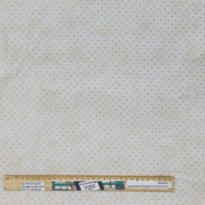 Quilting Patchwork Fabric Cream with Brown Dot Allover 50x55cm FQ