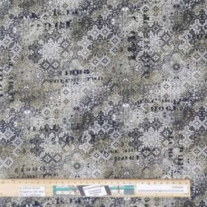 Quilting Patchwork Fabric Tim Holtz Abandoned Tile Allover 50x55cm FQ