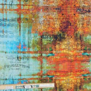 Quilting Patchwork Fabric Tim Holtz Abandoned Rusted Allover 50x55cm FQ