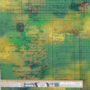 Quilting Patchwork Fabric Urban Grunge Abandoned Moss Allover 50x55cm FQ