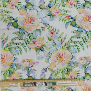Quilting Patchwork Fabric Patricia Floral Allover 50x55cm FQ