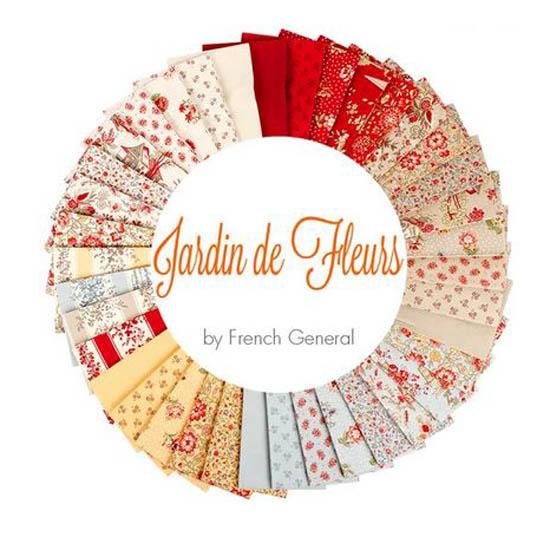 Moda Quilting Charm Pack Patchwork Jardin De Fleurs 5 Inch Sewing Fabrics