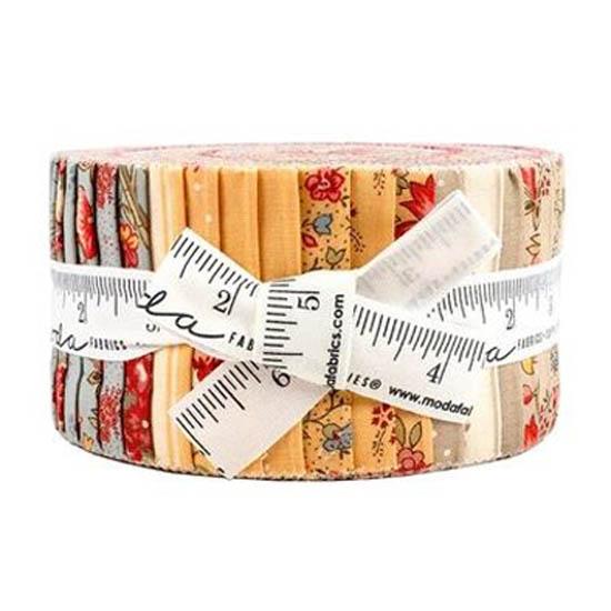 Moda Quilting Jelly Roll Patchwork Jardin De Fleurs 2.5 Inch Sewing Fabrics
