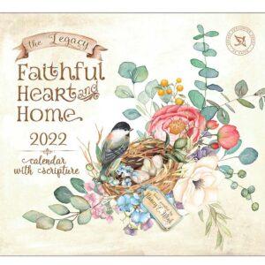 Legacy 2022 Calendar Faithful Heart and Home Calender Fits Wall Frame