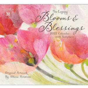 Legacy 2022 Calendar Blooms and Blessings Calender Fits Wall Frame
