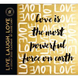 Legacy 2022 Calendar Live Laugh Love Calender Fits Wall Frame