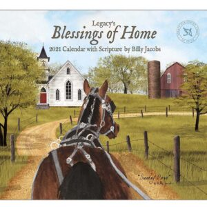 Legacy 2022 Calendar Inspired Blessings of Home Fits Wall Frame