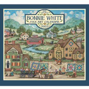 Legacy 2022 Calendar Inspired Bonnie White Folk Art Fits Wall Frame
