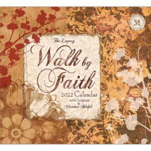 Legacy 2022 Calendar Walk by Faith Fits Wall Frame