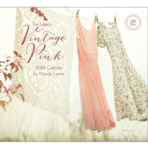 Legacy 2022 Calendar Vintage Pink Fits Wall Frame