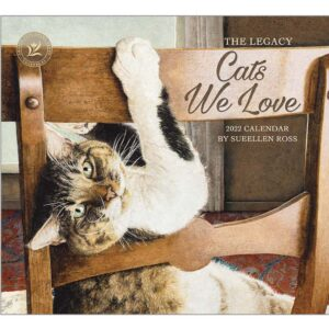 Legacy 2022 Calendar Inspired Cats We Love Fits Wall Frame