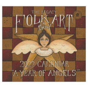 Legacy 2022 Calendar Folkart by David Fits Wall Frame