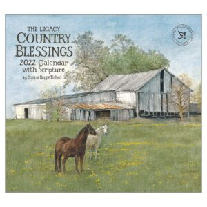 Legacy 2022 Calendar Country Blessings Fits Wall Frame
