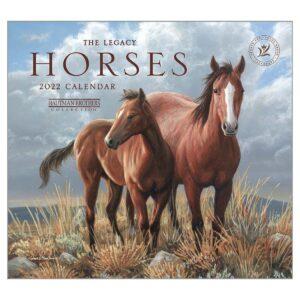 Legacy 2022 Calendar Horses Fits Wall Frame