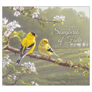 Legacy 2022 Calendar Songbirds of Faith Fits Wall Frame Scripture