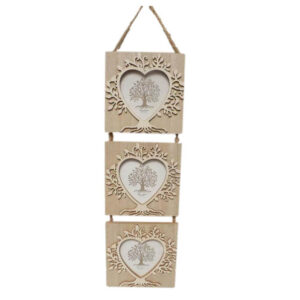 French Country Photo Frame Wooden Tree of Life Set of 3