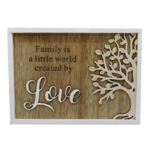 Country Rustic Wooden Sign Hanging Family is Love