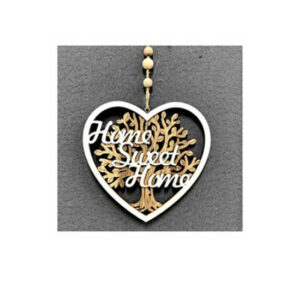 Country Rustic Wooden Sign Hanging Heart Home Sweet Home Tree