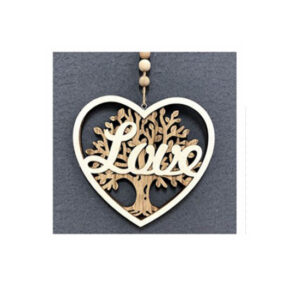 Country Rustic Wooden Sign Hanging Heart Love Tree of Life