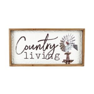 Country Farmhouse Sign Country Living Metal Framed Wall Art