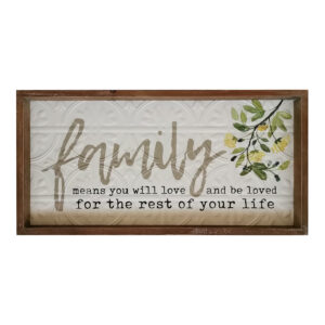 Country Farmhouse Sign Family Be Loved Metal Framed Wall Art