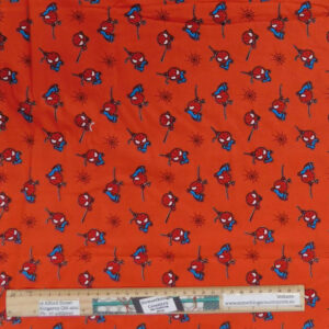 Quilting Patchwork Sewing Fabric Marvel Spiderman Red 50x55cm FQ