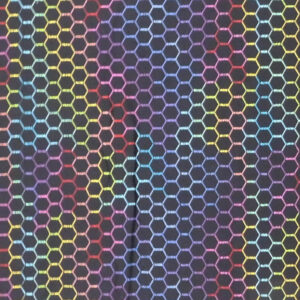 Quilting Patchwork Sewing Fabric Coloured Chicken Wire 50x55cm FQ