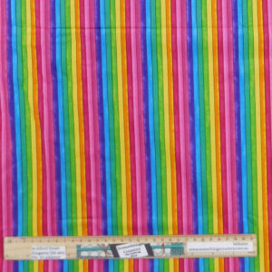 Quilting Patchwork Sewing Fabric Rainbow Stripe 50x55cm FQ