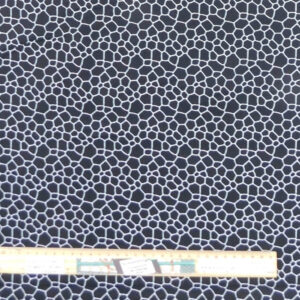 Quilting Patchwork Sewing Fabric Morning Pebble Black 50x55cm FQ