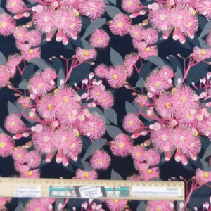 Quilting Patchwork Sewing Fabric Pink Flowering Gum 50x55cm FQ