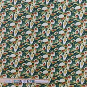 Quilting Patchwork Fabric Avocados Allover 50x55cm FQ