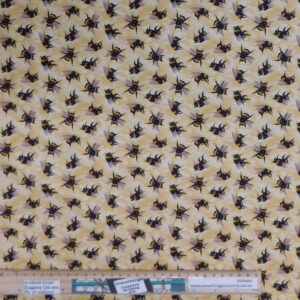 Quilting Patchwork Fabric You Bug Me Bees Allover 50x55cm FQ