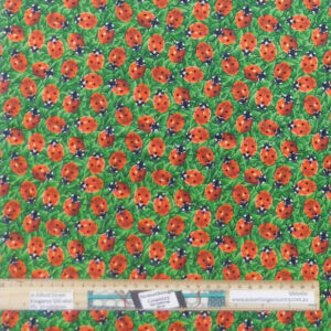 Quilting Patchwork Fabric You Bug Me Ladybug Allover 50x55cm FQ