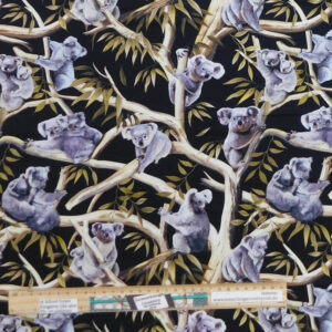 Quilting Patchwork Sewing Fabric Koalas in Tree Allover 50x55cm FQ