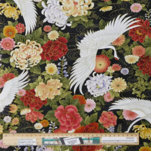 Quilting Patchwork Sewing Fabric Japanese Wind Song 50x55cm FQ