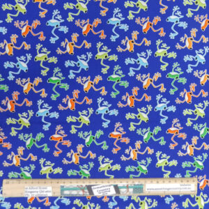 Quilting Patchwork Fabric Toadally Cool Frogs Allover 50x55cm FQ