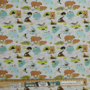 Quilting Patchwork Sewing Fabric Roaming the Mallee 50x55cm FQ
