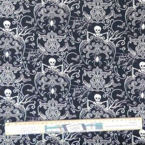 Quilting Patchwork Sewing Fabric Midnight Haunt Halloween 50x55cm FQ