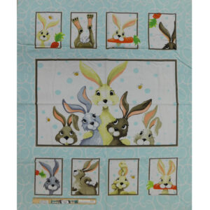 Patchwork Quilting Harold the Hare Nursery Panel 90x110cm Fabric